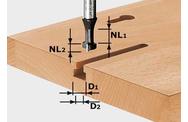 Фрезы для T-образного паза в экономпанелях CMT Алмазные PCD Фрезы по дереву