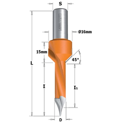 L=70 S=Ø10x20 Свёрла сквозные с зенкером CMT Свёрла и зенкеры Инструмент